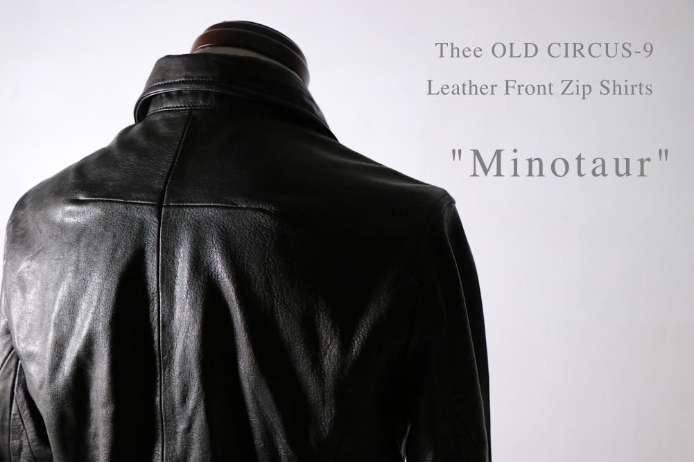 「Thee OLD CIRCUS-9」男らしさとエレガントな佇まいを併せ持つレザーシャツ